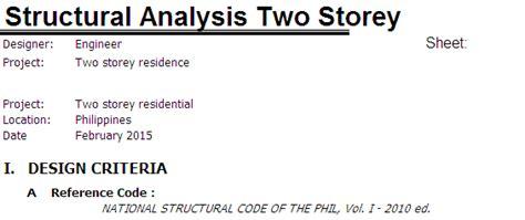 Structural Design Criteria Report | structural design report the importance of design criteria