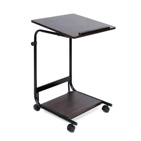 furinno laptop desk furinno boyate adjustable rolling laptop desk 40 24
