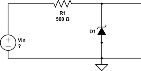 zener diode solved questions zener diode minimum input voltage electrical engineering stack exchange