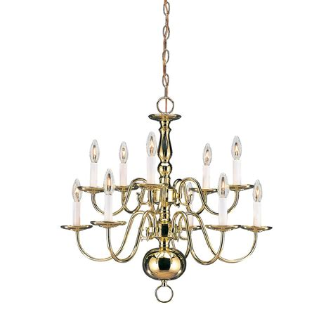 Progress Lighting Americana Collection 8 Light Polished Candle Chandelier Home Depot