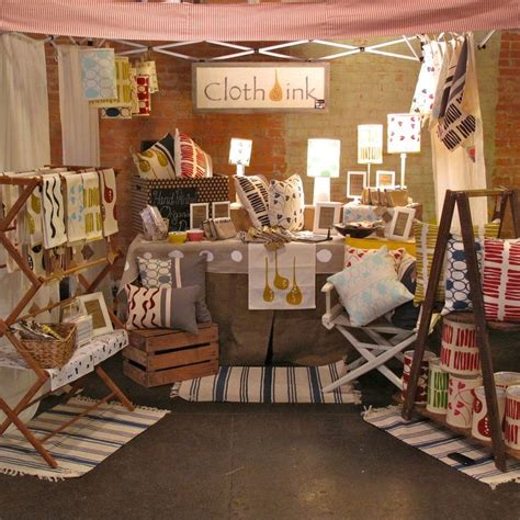 table displays the craft booth cloth ink booth display craft ideas display