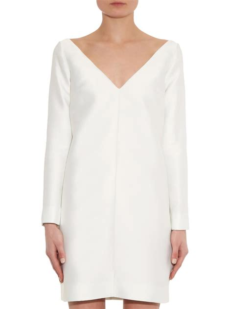 Sabrina Satin Dress emilia wickstead sabrina duchess satin dress in white lyst