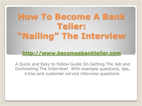 how to become a bank teller