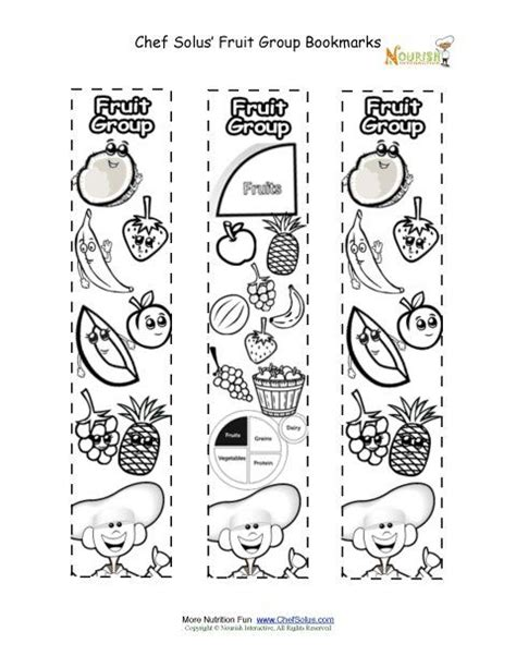 coloring pages food groups myplate worksheet bookmarks coloring fruit food group