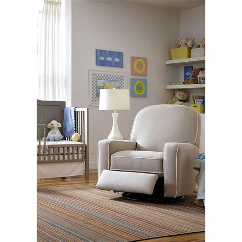most comfortable gliders for nursery blain swivel glider recliner with contrast cording