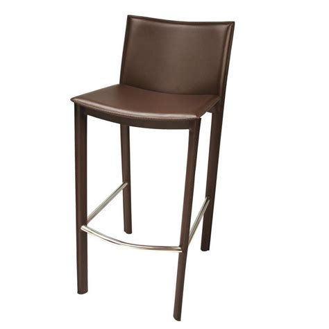 30 leather bar stools tag elston 30 in brown steel and leather bar stool