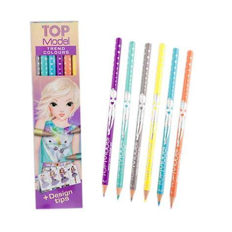Top Model Set Alat Tulis Pink Tempat Pensil jual top model trendy colouring pencil set 6 colours tm 7910 harga kualitas terjamin