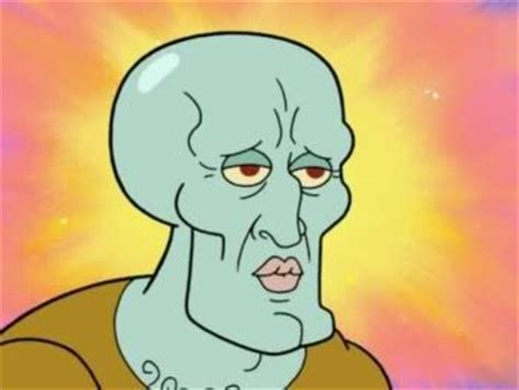 handsome squidward / squidward falling | know your meme