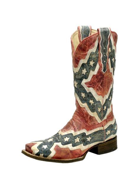 mens rebel flag boots s corral rebel flag square toe cowboy boot a1324 jc