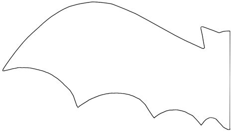 bat template printable best photos of bat template to cut out bat cut out
