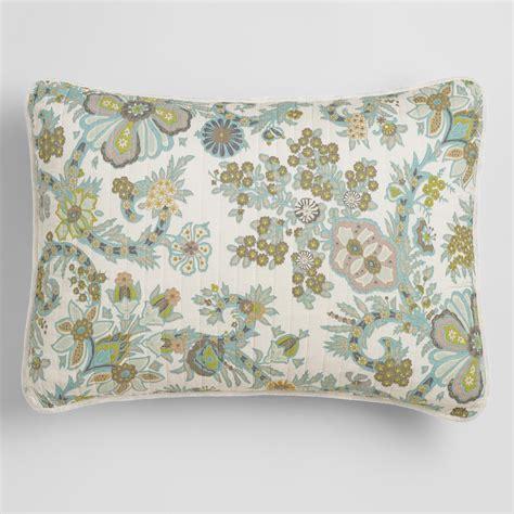 sham pillow indian floral alisha pillow shams set of 2 world market