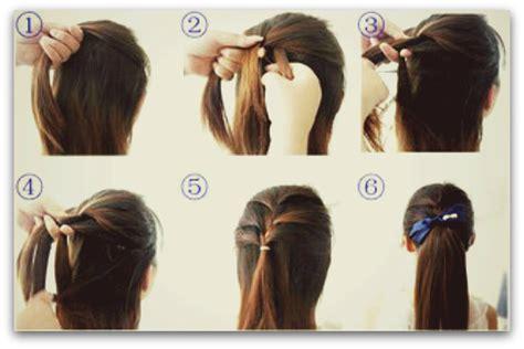 gambar tutorial ikat rambut kepang urai rambut panjang2 rambutkurambutmu