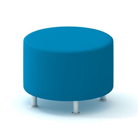 Poppin Furniture by Pool Blue Alight Ottoman Modern Office Furniture