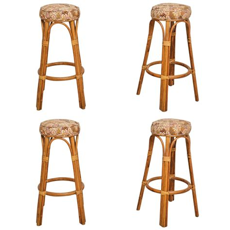 woven bar stools by four set of four rattan bar stools at 1stdibs