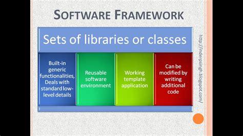 design framework software architecture what is software framework youtube