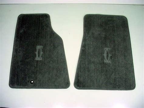 new oem gray front floor mats w cartier logo emblem