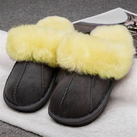 warm slippers winter warm indoor shoes thick wool slippers