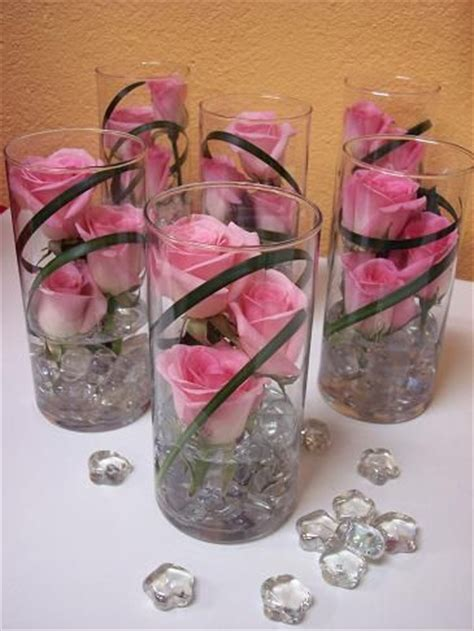 Flowers In Vase Centerpieces by Submerged Flower Centerpieces Single Glass Vase Wedding