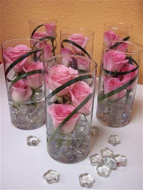 Single Flower Vase Centerpiece by Submerged Flower Centerpieces Single Glass Vase Wedding