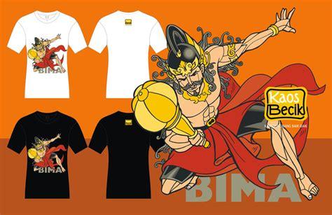 Kaos Batik Wayang Warna 02 kaos becik