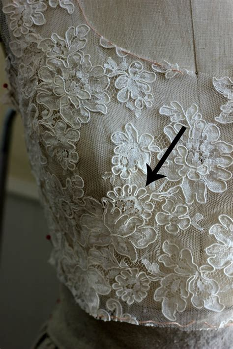 how to sew onto lace adding a lace overlay to a strapless wedding gown thread