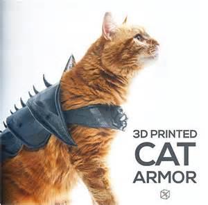 Home 3d Printer by Super Cool 3d Printed Cat Armor Meow Cat Com