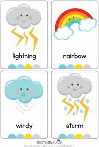 weather flash cards busy little bugs