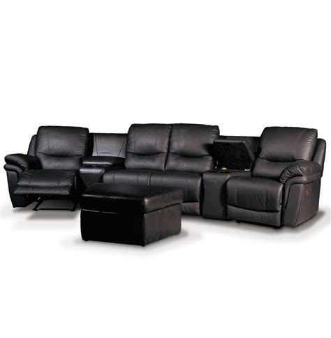 home theater seating black leather luxury