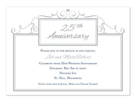 Simple 25th Anniversary Anniversary Invitations By Invitation Consultants Ic 2043 25th Anniversary Invitation Template