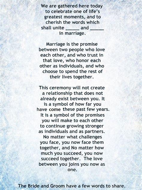 my non religious and sweet wedding ceremony script