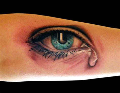 crying tattoo pin eye tattoos on