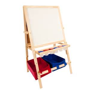 childrens easel kids art easel wooden easel with storage bins