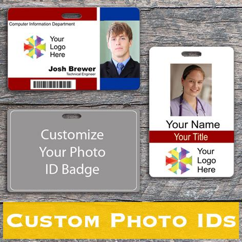 design your own photo id card name badge templates create your own name tag wizard