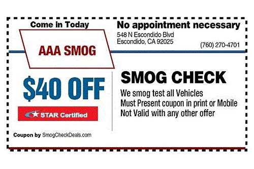 smog only coupons escondido