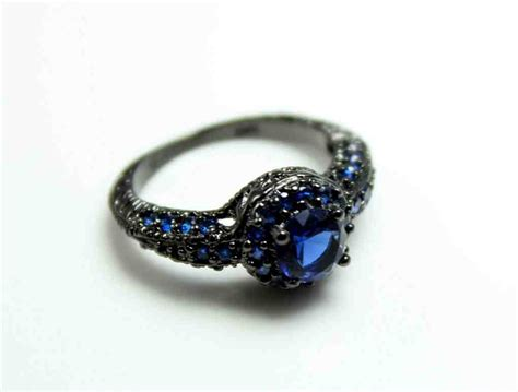black promise rings for wedding and bridal inspiration