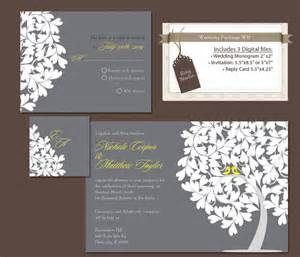wedding invitation packages items similar to digital wedding invitation package diy wedding invitations reply rsvp card