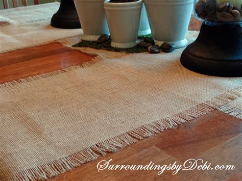 how to create simple burlap table runner with incredibly