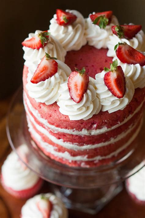 scratch strawberries cream cake  kitchen mccabe