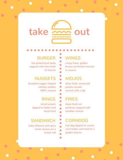 take out menu templates canva gt gt 25 beaufiful take out