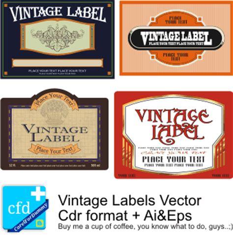 Vector Label Tutorial | vintage vector label more corel draw tutorial and