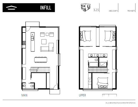 Infill House Plans by Infill Dwyer Architect Architects