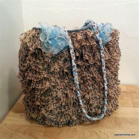 crochet ruffle bag pattern ruffled project bag free crochet pattern jessie at home