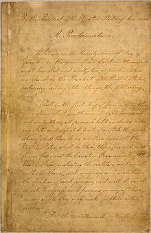 Emancipation Proclamation - Wikipedia Emancipation Proclamation Actual Document