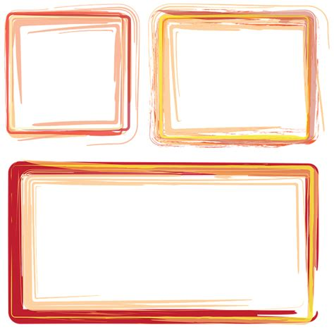 photo cornici free illustration frames borders orange frame free