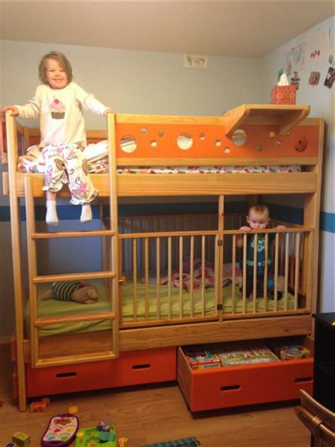 Bunk Bed With Crib On Bottom With Crib