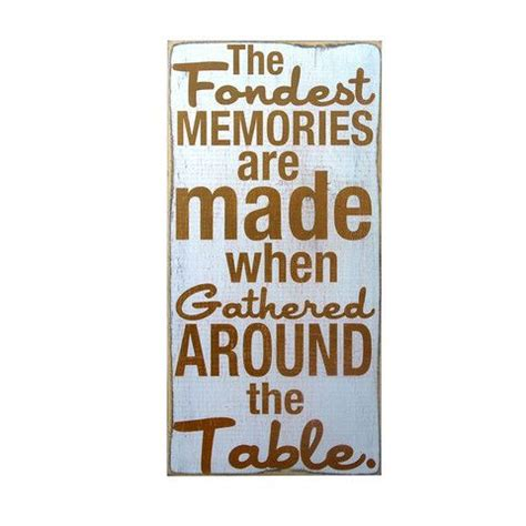 Dining Room Signs by Dining Room Accent The Fondest Memories Home Decor Wall