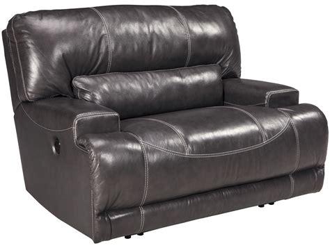 wide seat recliner mccaskill gray wide seat power recliner u6090082 ashley