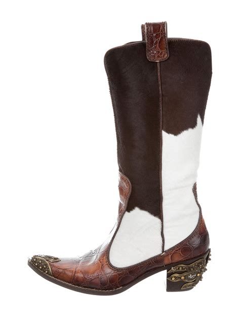 cowboy boot sneakers giuseppe zanotti ponyhair embellished cowboy boots shoes