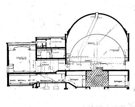 observatory floor plan studies floor plans and specs buhl planetarium and