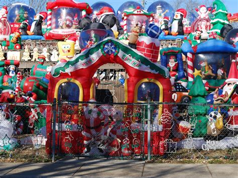here are the most over the top christmas lawn decorations